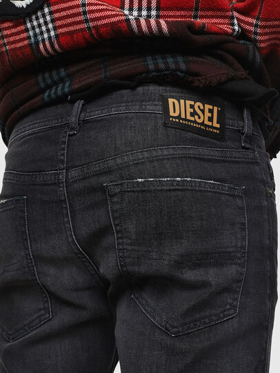 Diesel - Buster 082AS, Nero/Grigio scuro - Jeans - Image 4