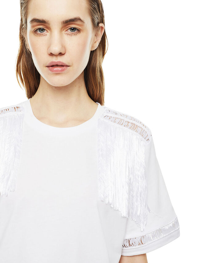 Diesel - TREENA, Bianco - T-Shirts - Image 4