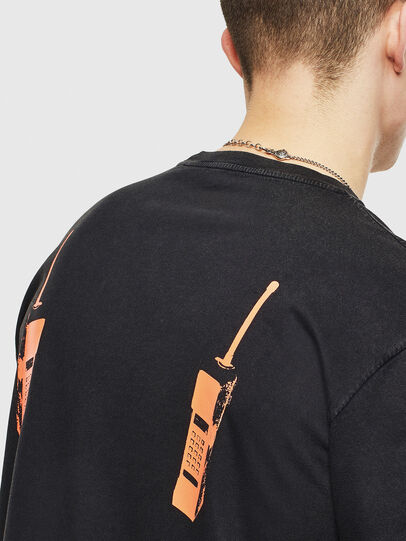 Diesel - T-JUST-T12, Nero - T-Shirts - Image 5