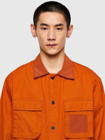Diesel - S-GUNN-LS, Arancione - Camicie - Image 3