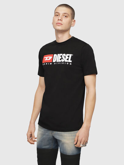 Diesel - T-JUST-DIVISION, Nero - T-Shirts - Image 1