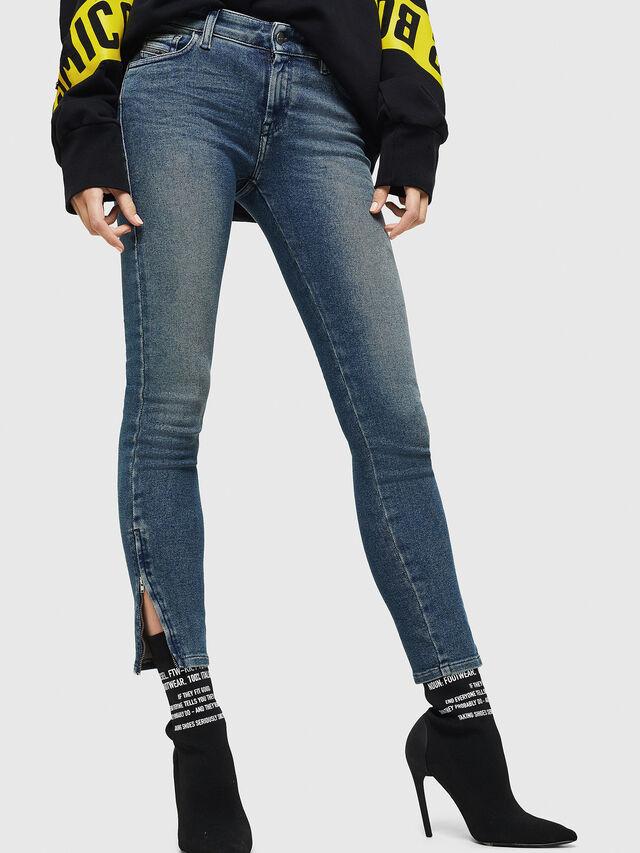 Diesel - Slandy Zip 083AL, Blu medio - Jeans - Image 4