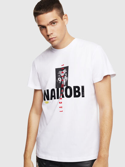 Diesel - LCP-T-DIEGO-NAIROBI, Bianco - T-Shirts - Image 1