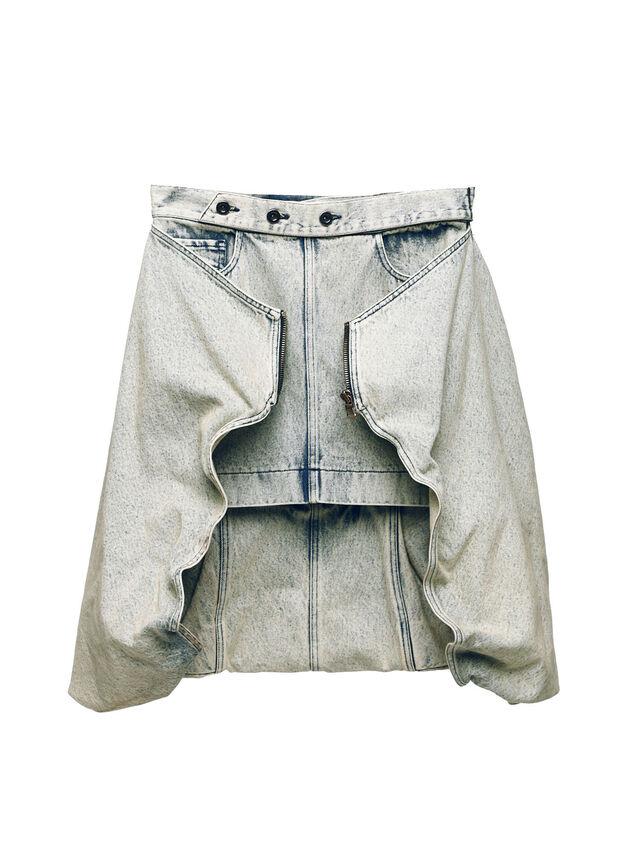 Diesel - SOBS01, Grigio Jeans - Gonne - Image 1