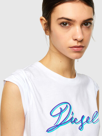 Diesel - T-SILY-K10, Bianco - T-Shirts - Image 3