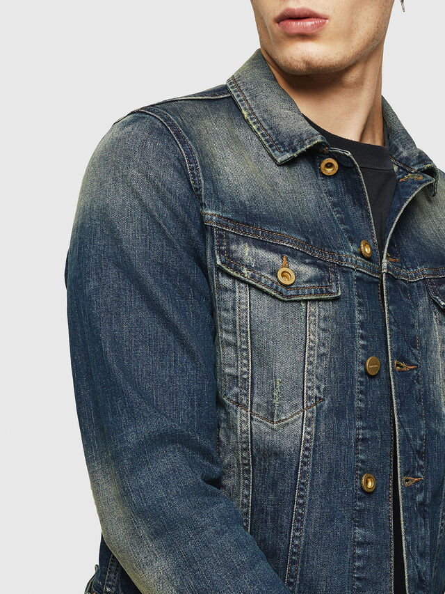 Diesel - D-GALY, Blu Scuro - Giacche in denim - Image 3