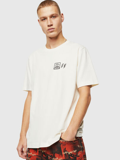 Diesel - T-JUST-VINT, Bianco - T-Shirts - Image 1