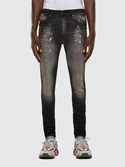 Diesel - D-Reeft JoggJeans 009FX, Nero/Grigio scuro - Jeans - Image 1