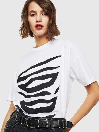 Diesel - T-JUST-J9, Bianco - T-Shirts - Image 5
