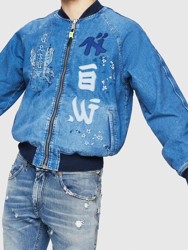 Diesel - D-BAK, Blu Jeans - Giacche in denim - Image 4