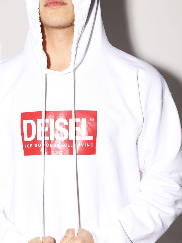 Diesel - DEIS-SHOOD, Bianco - Felpe - Image 6