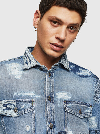 Diesel - D-HISAKY-SY, Blu Jeans - Camicie in Denim - Image 3