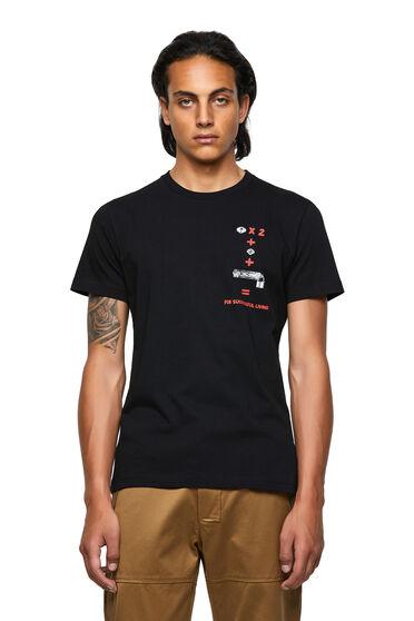 T-shirt Green Label con stampa di un'equazione