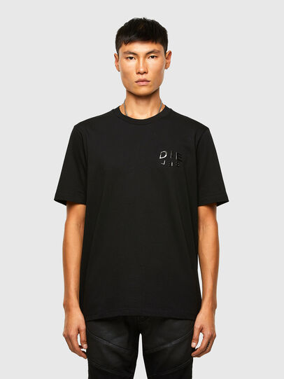 Diesel - T-JUST-SLITS-A30, Nero - T-Shirts - Image 1