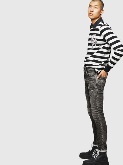 Diesel - Thommer JoggJeans 0890B, Nero/Grigio scuro - Jeans - Image 4
