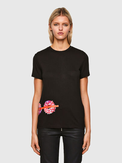Diesel - T-SILY-R7, Nero - T-Shirts - Image 1