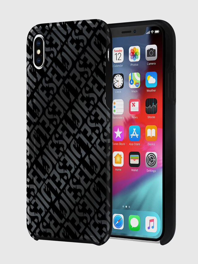 Diesel - DIESEL PRINTED CO-MOLD CASE FOR IPHONE XS MAX, Nero - Cover - Image 1