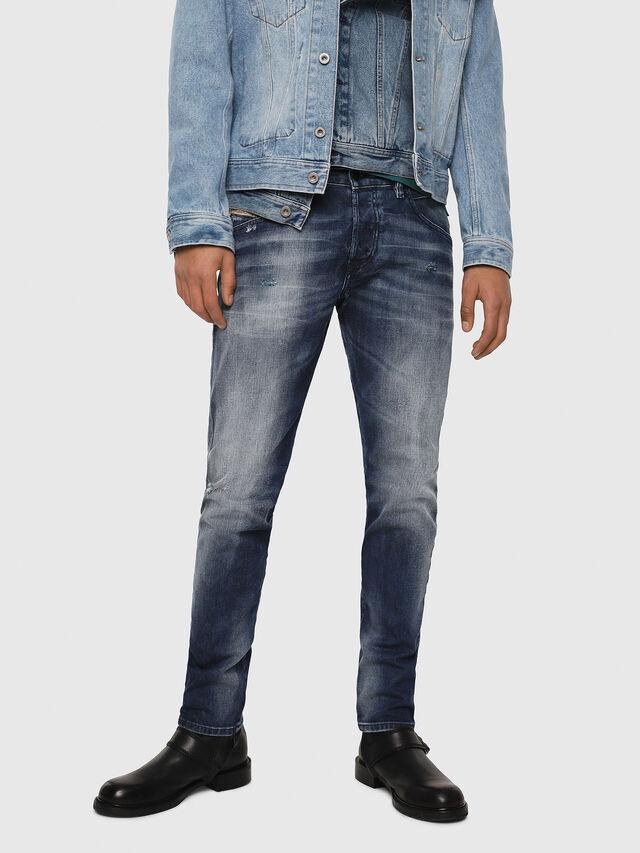 Diesel - D-Bazer 084DD, Blu Scuro - Jeans - Image 1