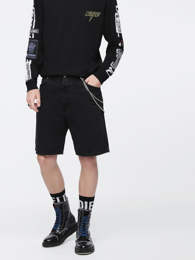 Diesel - D-WILLOH, Nero - Shorts - Image 1