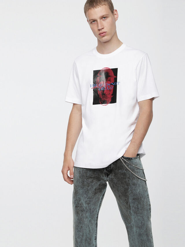 Diesel - T-JUST-XV, Bianco - T-Shirts - Image 1