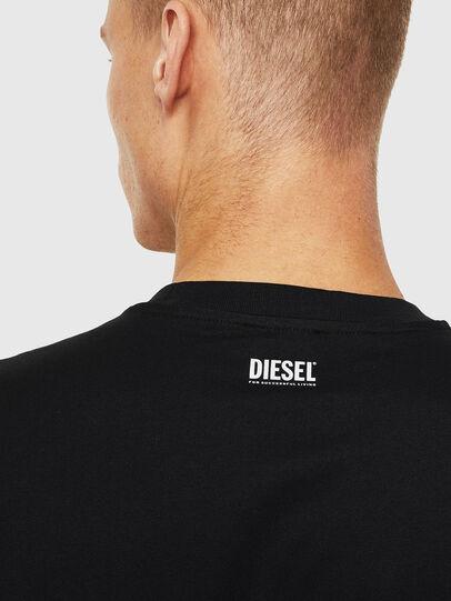 Diesel - T-JUST-J13, Nero - T-Shirts - Image 3
