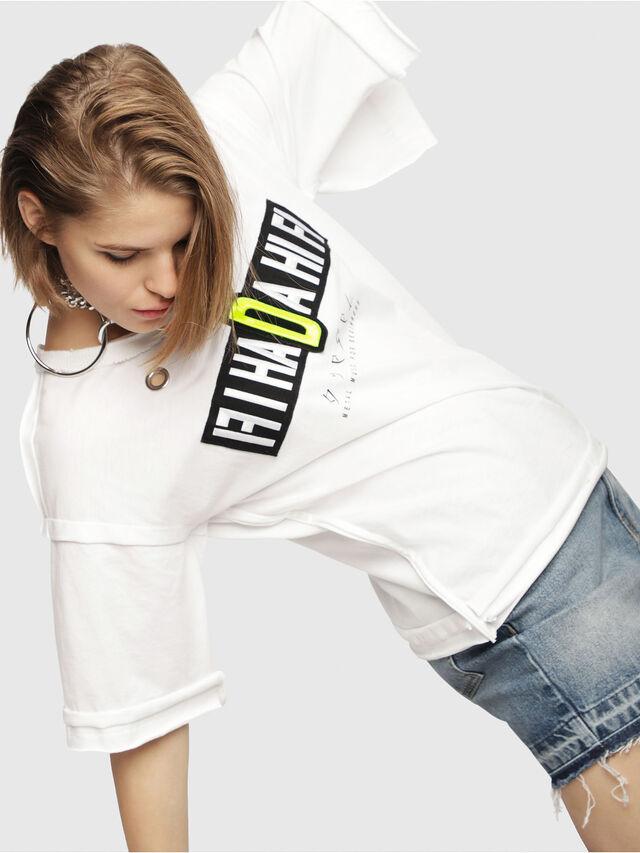 Diesel - T-JACKY-C, Bianco - T-Shirts - Image 4