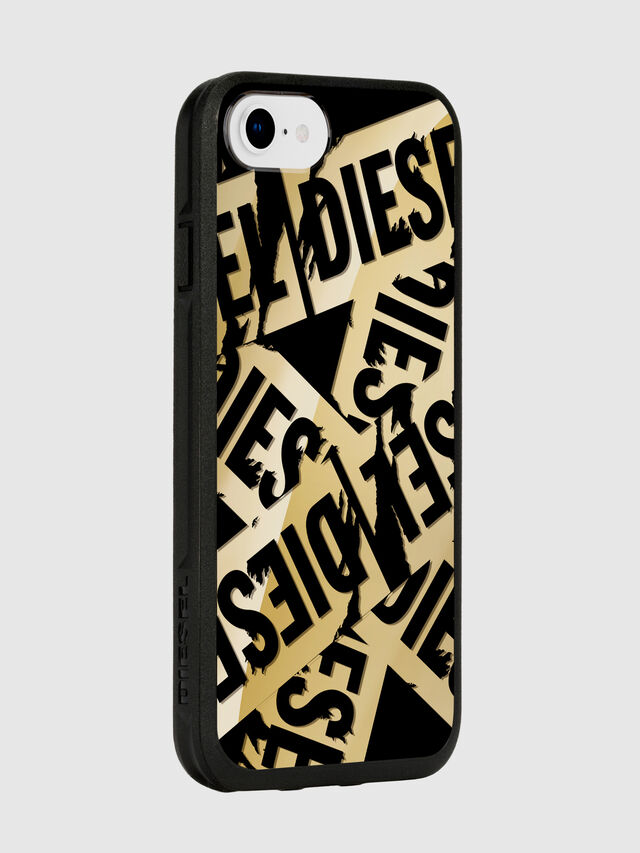 Diesel - MULTI TAPE GOLD/BLACK IPHONE 8/7/6S/6 CASE, Oro - Cover - Image 6