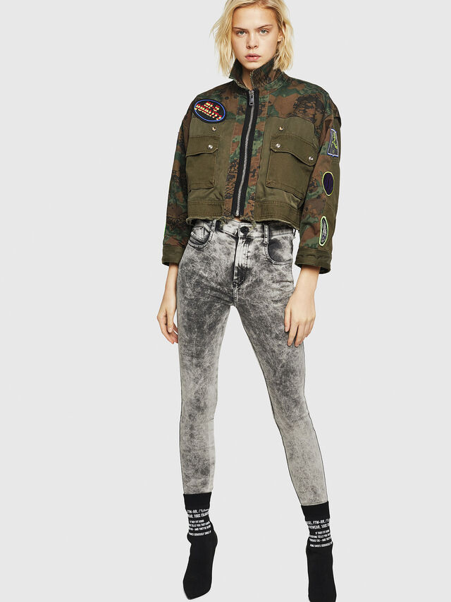 Diesel - Slandy High 069GQ, Grigio Chiaro - Jeans - Image 5
