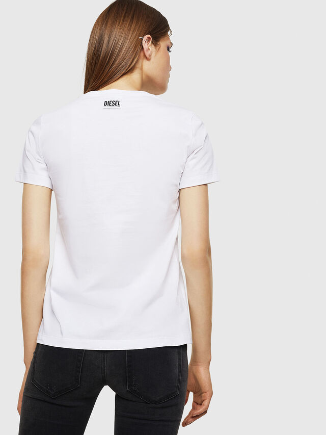 Diesel - T-SILY-WK, Bianco - T-Shirts - Image 2