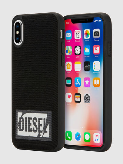 Diesel - BLACK DENIM IPHONE X CASE, Nero - Cover - Image 1