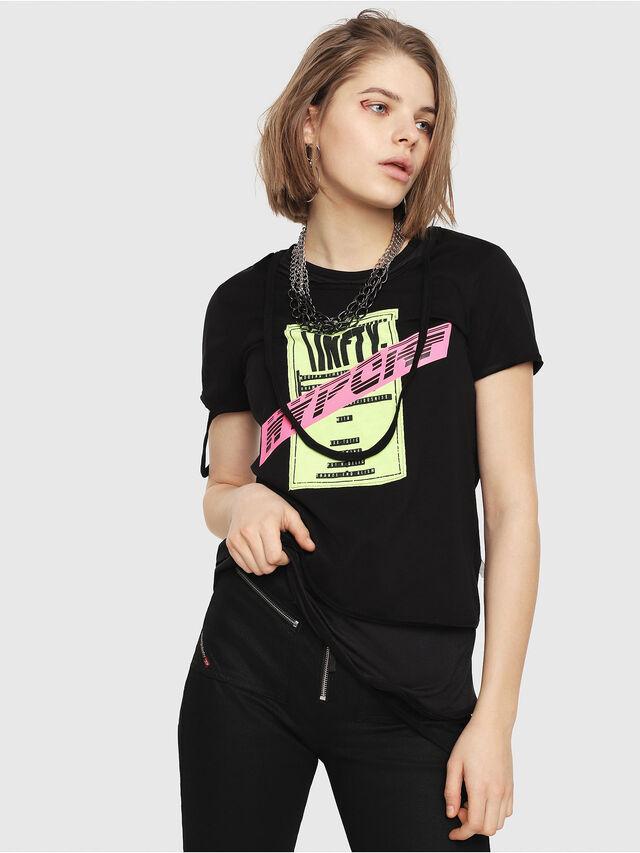 Diesel - T-EMIKO-B, Nero - T-Shirts - Image 1