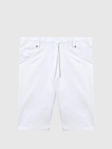 Shorts slim fit in JoggJeans® a tinta unita