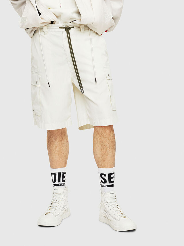 Diesel - P-AIMI-P, Bianco - Shorts - Image 1