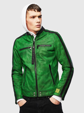 L-BOY-A, Verde - Giacche di pelle