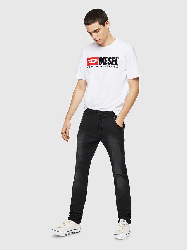 Diesel - Krooley Long JoggJeans 0670M, Nero - Jeans - Image 5