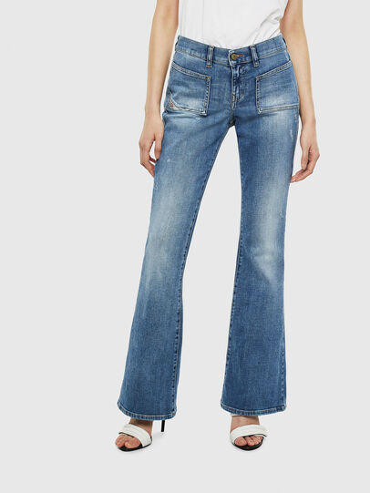 Diesel - D-Ebbey 0099M, Blu medio - Jeans - Image 1