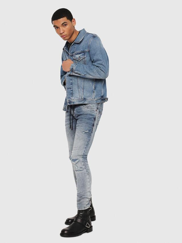 Diesel - Thommer JoggJeans 069FC, Blu medio - Jeans - Image 5