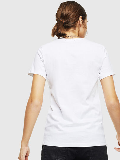 Diesel - T-SILY-DIVISION, Bianco - T-Shirts - Image 2