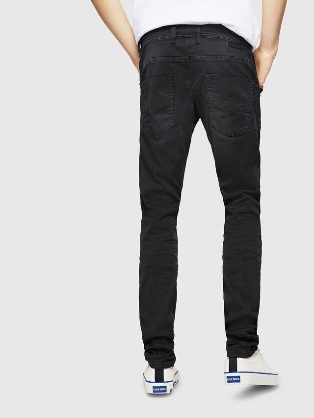 Diesel - Krooley Long JoggJeans 0670M, Nero - Jeans - Image 2