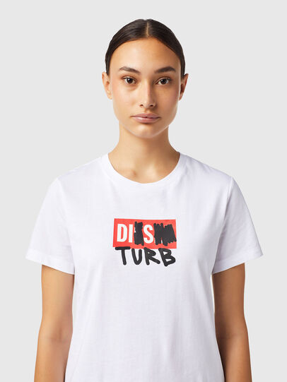 Diesel - T-SILY-B6, Bianco - T-Shirts - Image 3