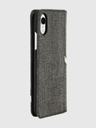 Diesel - DIESEL 2-IN-1 FOLIO CASE FOR IPHONE XR, Grigio - Cover a libro - Image 4