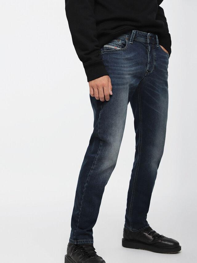Diesel - Larkee-Beex 084BU, Blu Scuro - Jeans - Image 1