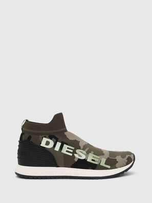 SLIP ON 03 LOW SOCK, Verde Camo - Scarpe