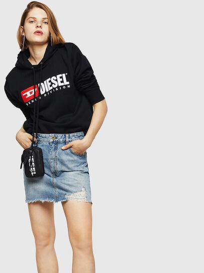 Diesel - DE-ELLE, Blu Chiaro - Gonne - Image 6
