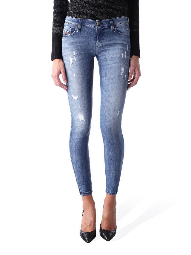 Diesel - Skinzee Low Zip 0847U, Blu medio - Jeans - Image 1