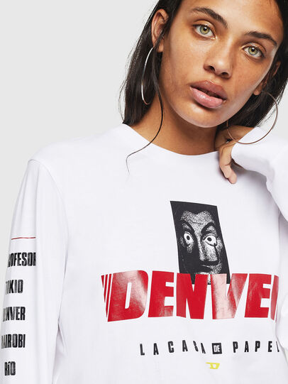 Diesel - LCP-T-JUST-LS-DENVER, Bianco - T-Shirts - Image 5