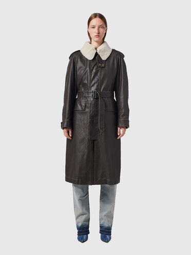 Cappotto di tela con fodera rimovibile