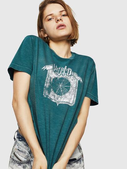 Diesel - T-FLAVIA-IC, Blu - T-Shirts - Image 1