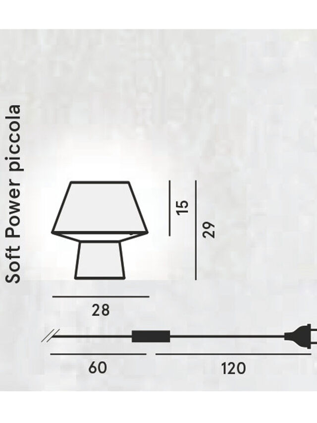 Diesel - SOFT POWER PICCOLA, Nero - Lampade da Tavolo - Image 2