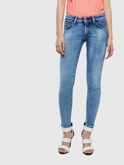 Diesel - Slandy Low 0095P, Blu Chiaro - Jeans - Image 1
